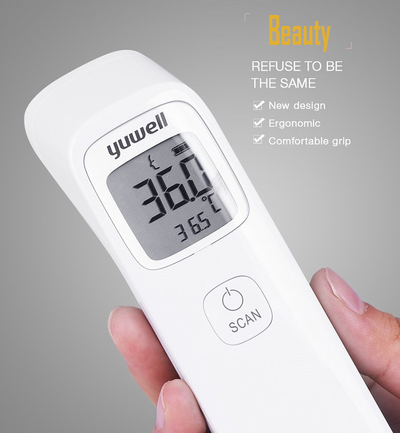 Yuwell Baby Digital Noncontact Infrared Forehead Thermometer Infrared Hydrothermograph Children Body Hermograph Accurate YHW-2--14