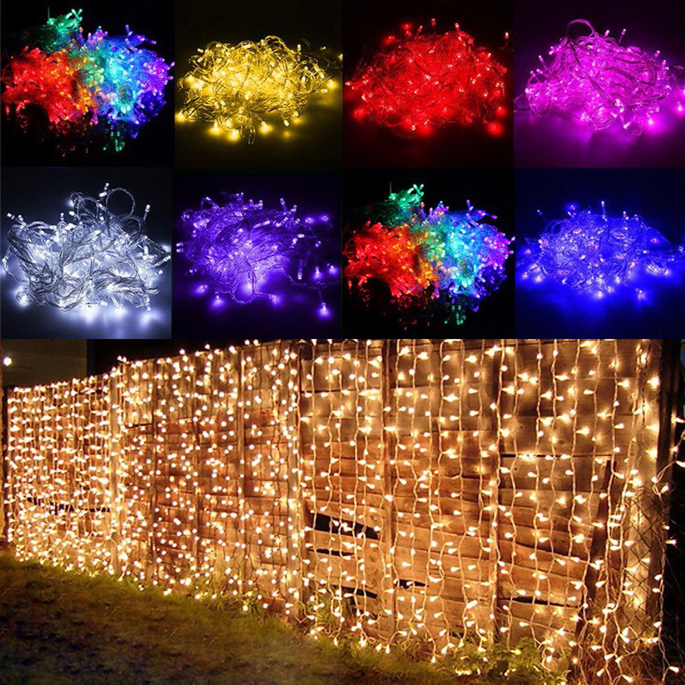 2x3M Christmas Garlands LED String Christmas Net Lights Fairy Xmas Party Garden Wedding Decoration Curtain Lights