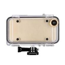 Esportes para iphone 6 6s mais à prova dwaterproof água caso do telefone celular capa com 170 graus lente grande angular compatível com gopro acessórios