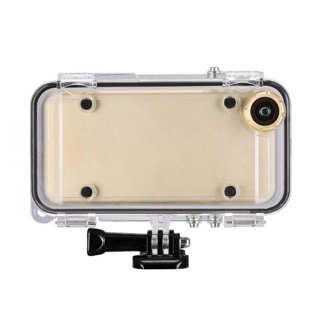 Spor iPhone 6 için 6S artı su geçirmez cep telefonu kılıfı ile 170 derece geniş açı Lens ile uyumlu goPro aksesuarları