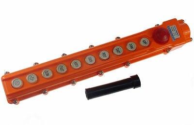 1 x COB-65H For Hoist Crane Control Station Push Button Switch 6Ways Emergency uxcell 250v 5a 500v 2a 2 ways hoist crane push button switch orange momentary
