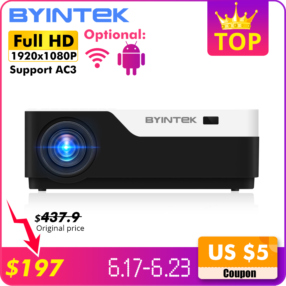 BYINTEK MOON K11 200inch 1920x1080 1080P FULL HD LED Video Projector with HDMI USB For Game Movie Cinema Home Theater