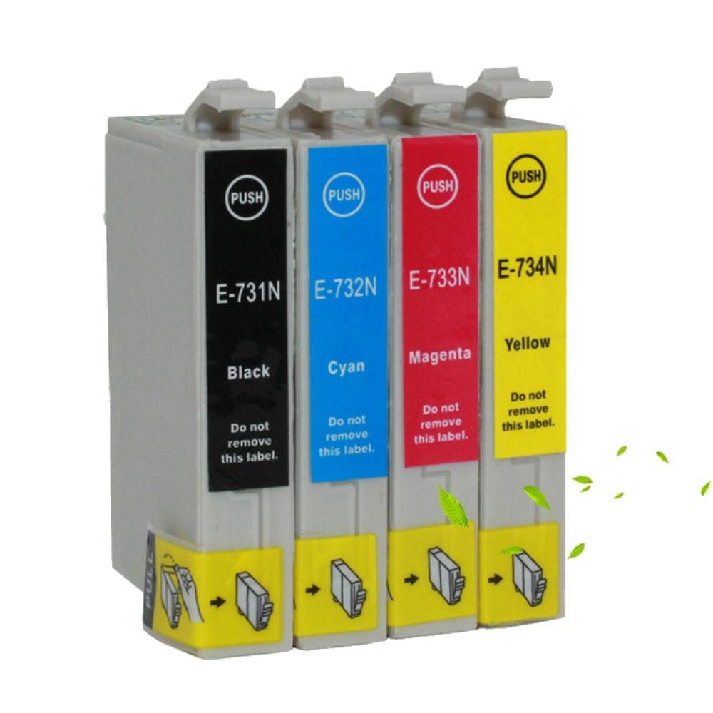 4 x 73N T0731 Ink Cartridge For Epson Stylus CX3900/4900/4905/5500/5510/5600/5900/6900F/7300/7310/8300/9300F/90/92