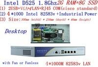 BAS High Performance Core Router Intel D525 1 8Ghz Dual Core Support ROS Mikrotik PFSense Panabit