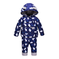 Russian Winter Ski Suit Childen 2018 Kids Snowboard Jackets Coats + Jumpsuit Snowsuit for Baby Girl Boy Parka Baby Goose Feather