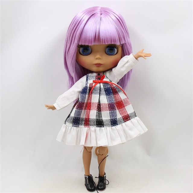 ICY Neo Blythe Doll Short Purple Hair Jointed Body