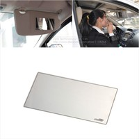 New 15X8cm Car Makeup Mirror Car Sun Shading Stainless Steel Mirror Car Cosmetic Mirror Car Interior