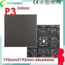 프로 모션 제품 aliexpress p3 rgb smd led 패널 192x192 모듈 led 픽셀 3mm 192mm x 192mm 64x64 32x32 led 모듈 1/32 스캔