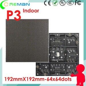 Image 1 - โปรโมชั่นผลิตภัณฑ์ aliexpress p3 rgb smd led แผง 192x192 โมดูลพิกเซล led 3 มม.192 มม.x 192 มม.64x64 32x32 led โมดูล 1/32 scan