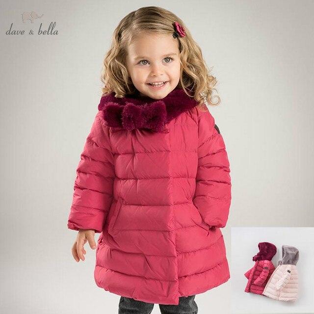 6cc64a3ce DB6091 dave bella winter baby girls down jacket children white duck ...