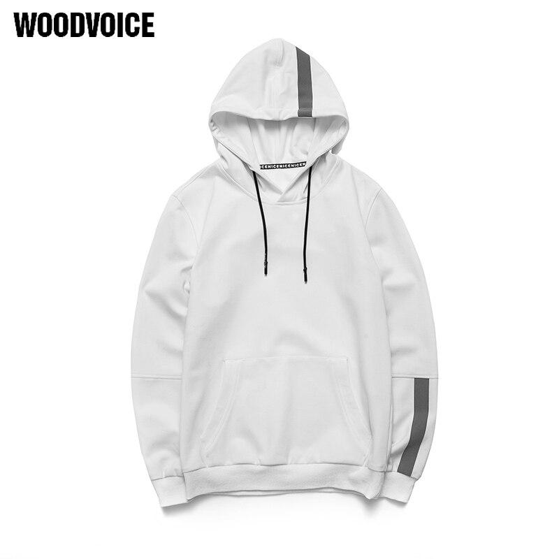 Woodvoice 2018 мужской высокое качество Повседневное кофты Для мужчин одноцветное Цвет модные Толстовки с капюшоном пуловер с длинными рукавами ...