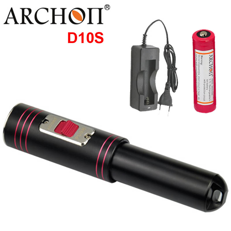 ARCHON D10S W16S Diving Flashlight 3 Mode Cree XM-L U2 LED 860 Lumens Diving Flashlight Torch Waterproof professional diving archon dh25 wh31 1000 lumens cree xm l u2 canister snorkeling scuba diving light