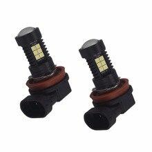 2 шт 12V 24V H8 Led HB4 9006 HB3 9005 туман светильник s лампы 1200LM 6000K белый лампа для дневных ходовых огней и автоматические светодиоды светильник
