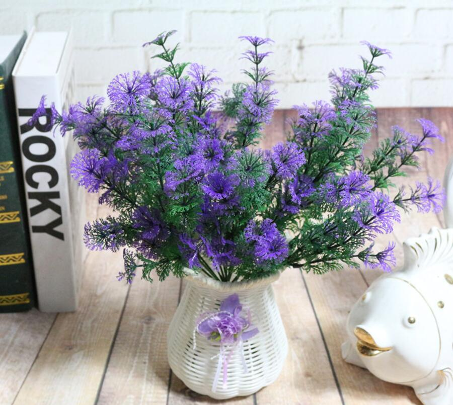 6pcs Artificial Pine Branch Greenery For Plant Wall Background Wedding Party Home Hotal Office Bar Decorative