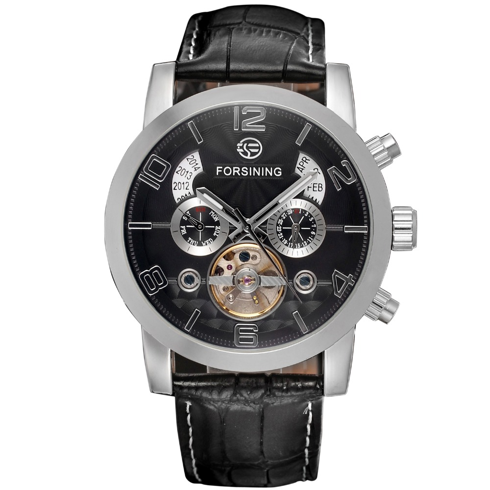 Fashion 5 Hands Tourbillion Wave Dial Design Men Watches Top Brand Luxury Day Date Display Automatic Watch Clock ForsiningFashion 5 Hands Tourbillion Wave Dial Design Men Watches Top Brand Luxury Day Date Display Automatic Watch Clock Forsining