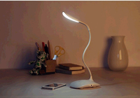 Hot Sale LED Fold Modern Table Lamps 14LED Rechargeable USB Reading Light Bedside Lights Led Desk