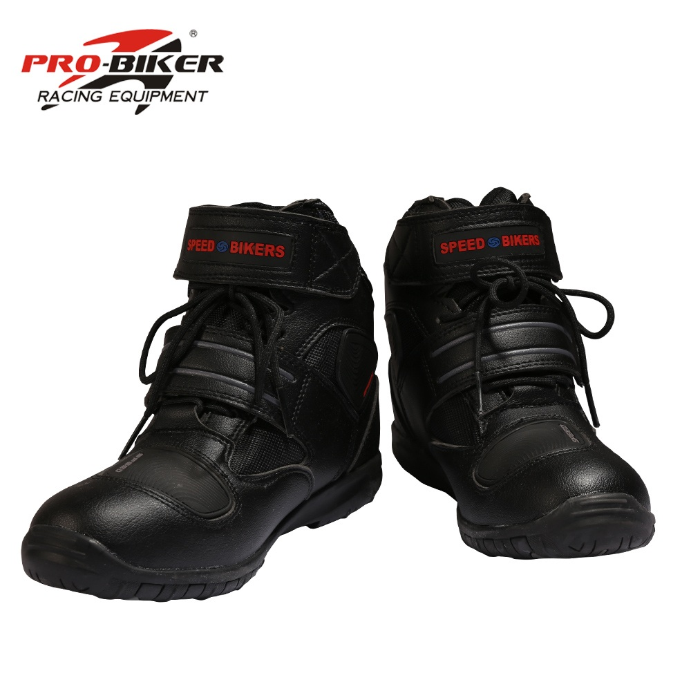 A005 Soft Motorcycle Boots PRO Boot Biker Waterproof SPEED Motorboats Men Motocross Boots Non-slip Motorcycle Shoes