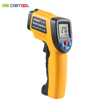 GM320 Non Contact Laser LCD Display IR Infrared Digital C F Selection Surface Temperature Thermometer For