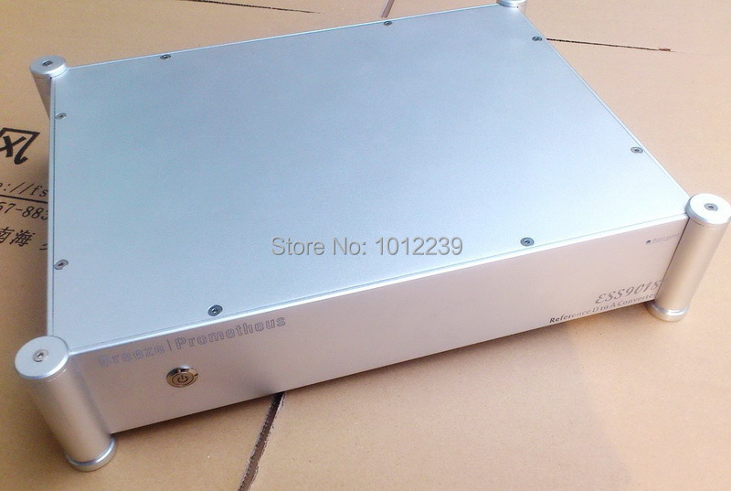 hot sale pre-amp chassis/home audio amp chassis/DAC amp case size 430 W X330high X 95mm deep hot sale gold preamp aluminum chassis with knob diy home audio amp chassis size 236 w x 166 high x 75 deep