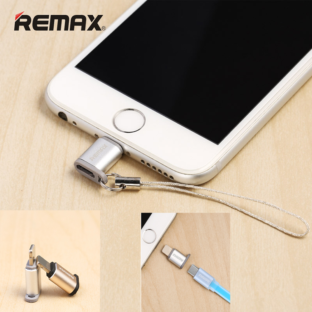 REMAX For Iphone OTG Cable Connector Micro USB To 8pin Adapter 3.0A Charging Micro USB 8pin Converter For Iphone6 7 8 Ipad