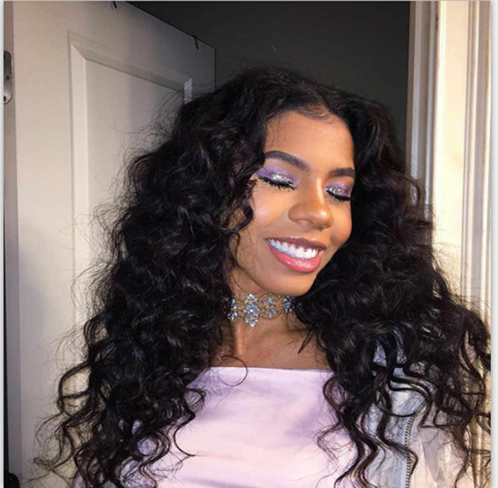 ... Wholesale Curly Wig Glueless Full Lace Wigs Black Women Indian Remy  Human Hair Lace Front Styling ... 8976120a9b