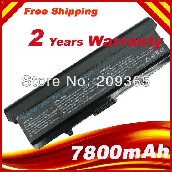 7800 mah batería de litio de 9 celdas para dell inspiron 1525 c601h d608h gp952 gw240 hp297 m911g rn873 xr693 ru586 x284g series