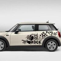 Car decals rock music diy graphic vinyl for mini