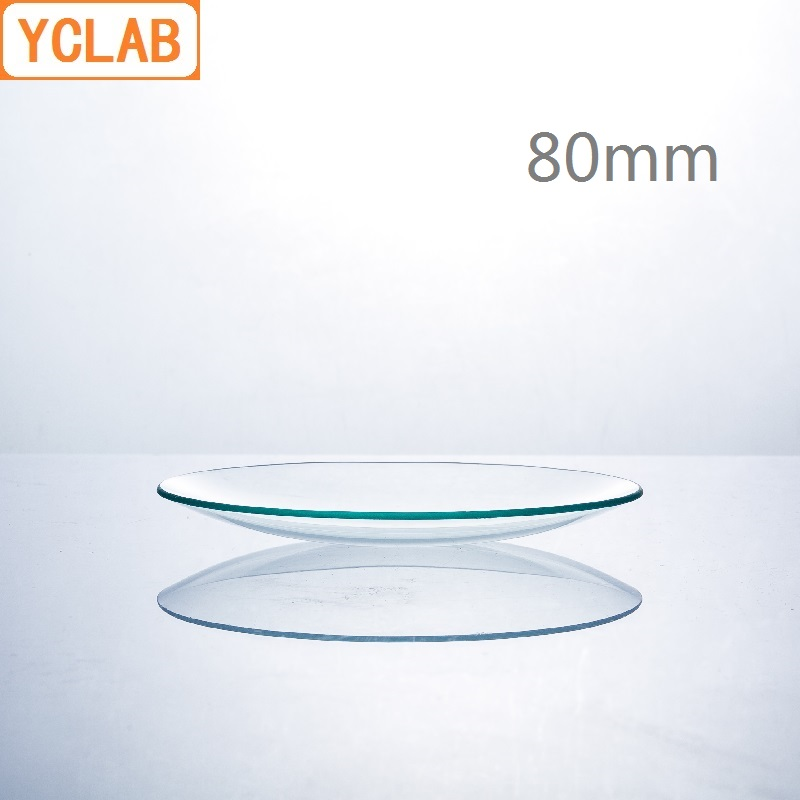 YCLAB 80mm Watch Glass Beaker Cover Domed Hard Glass Laboratory Chemistry Equipment