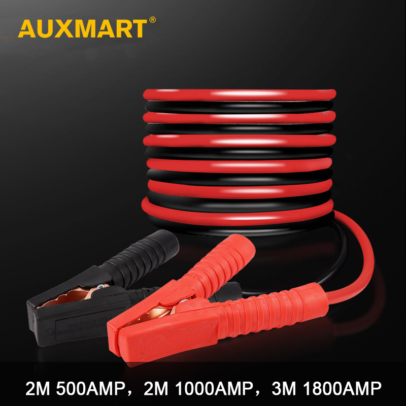 AUXMART Cable-Booster Car-Battery Jump-Starter Emergency-Terminals Leads 3M 2M 1000AMP