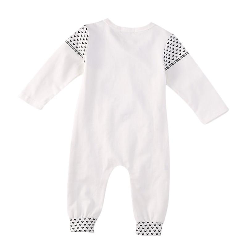 Kacakid 1 Pcs Baby Boys Cute Romper Newborn Baby White Deer Print Long Sleeve Baby Christmas Clothes Romper Playsuit Y6