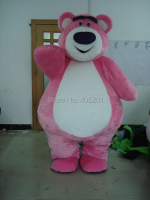 pink bear mascot costume fat plush costumes