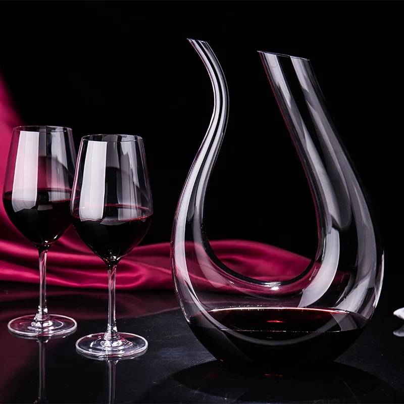 1500ML Big Decanter Handmade Crystal Red Wine Brandy Champagne Decanter Bottle Wine Container Drinking Glasses Carafe Bar Set image