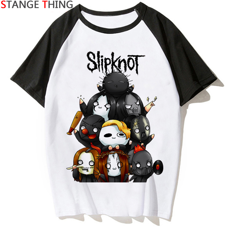 New Slipknot   T     Shirt   Men/women   T  -  shirt   Printing Rock Punk Rock Band Punk Streetwear Tshirt Summer Hip Hop Top Tees Male/female