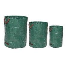 Большой емкости сверхмощный Садовый дом мусорный мешок Прочный водонепроницаемый двор лист травы контейнер для хранения 120л/300л/500л