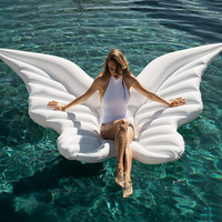 Giant 70 Inches Angel Wings Float Inflatable Swimming Pool Toys Beach Island For Adults Boia Piscine Mattress