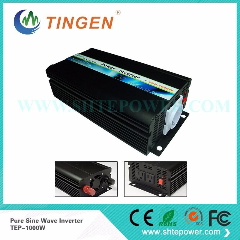 Fedex freeshipping! 1000 Watt Netzferne Reine Sinus-wechselrichter, 2000 watt spitzenleistung wechselrichter, Solar & Wind Inverter