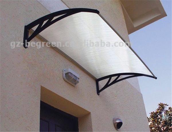 YP100120 100x120 cm 39x47in fácil instalação policarbonato dossel, dossel ao ar livre, copa porta dossel ao ar livre toldo sol