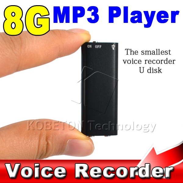 Kebidumei 3 In 1 8g Mini Digital Audio Voice Recorder Diktiergerät Stereo Mp3 Musik-player 8 Gb Speicher Usb-flash-laufwerk GroßE Sorten Digital Voice Recorder