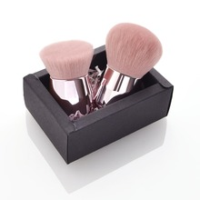 2Pcs Professional Makeup Brush Powder Foundation Brush Lip Care Serum Lip Plumper Lip Soft Cosmetic Powder Blending Make Up Tool цена в Москве и Питере