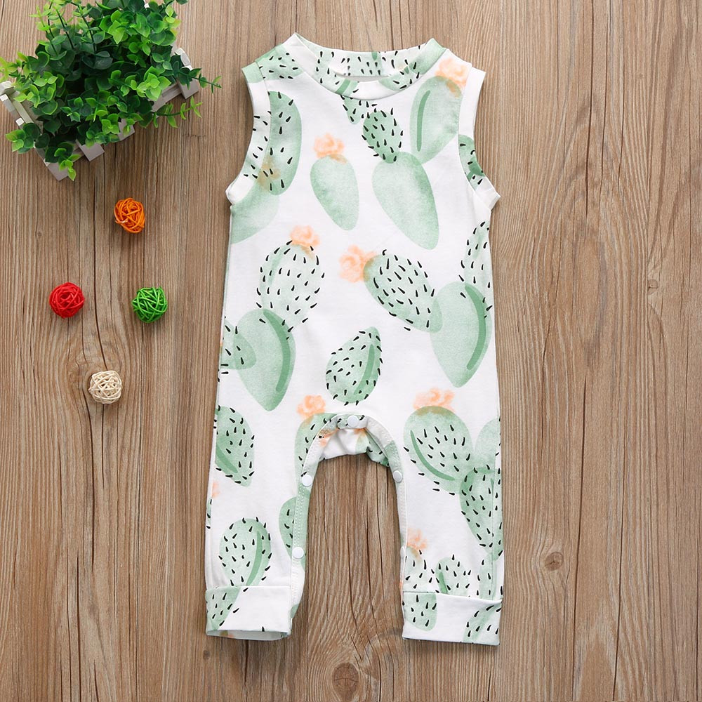 Newborn Baby Girl Boy   Romper   Infant Sleeveless Floral Jumpsuit Outfits summer baby clothes ribbed baby clothes bebek tulum