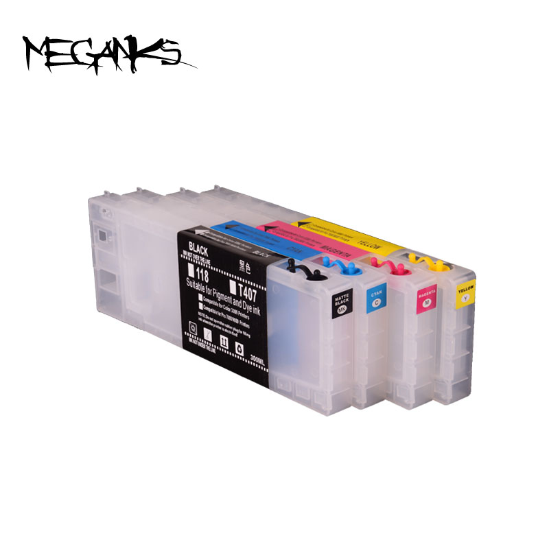 empty refill 4 colors 300ml refillable ink cartridge for Epson 4450 with reset chip