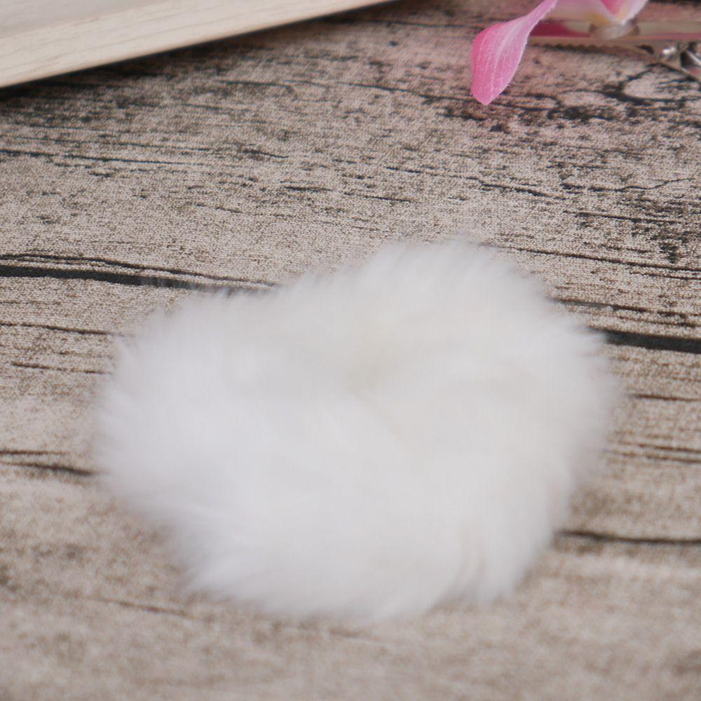 Милые трендовые теплые мягкие женские эластичные ленты из искусственного кроличьего меха для волос, аксессуары для волос для девочек, резинка для волос, головные уборы - Цвет: white