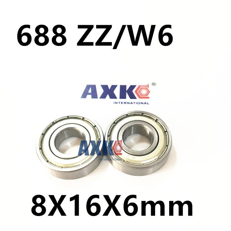Free Shipping 4PCS  8X16X6  Metal Shields Bearings  ABEC-3  688 ZZ/W6 free shipping 4x7x2 5 metal shields bearings abec 7 stainless steel smr74 zz
