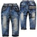 3784 детская одежда новорожденных девочек мальчиков детей мягкие джинсы джинсовые темно-синие брюки брюки весна осень не выцветает свободного покроя брюки