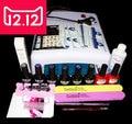 EM--128 Бесплатная доставка уф гель лак для ногтей комплект ногтей инструменты профессиональный набор, уф-гель цвет с уф светодиодная лампа, nail art инструменты