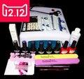 EM--128 Envío gratuito uv gel nail polish set, nail herramientas set profesional, gel uv de color con uv de la lámpara led set, herramientas del arte del clavo