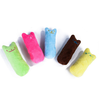 Teeth Grinding Catnip Toys Funny Interactive Plush Cat Toy 2