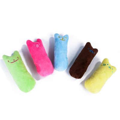 치아 catnip 장난감 연삭 재미있는 대화 형 봉제 고양이 장난감 애완 동물 고양이 씹는 보컬 장난감 발톱 엄지 손가락 고양이 박하 고양이 뜨거운