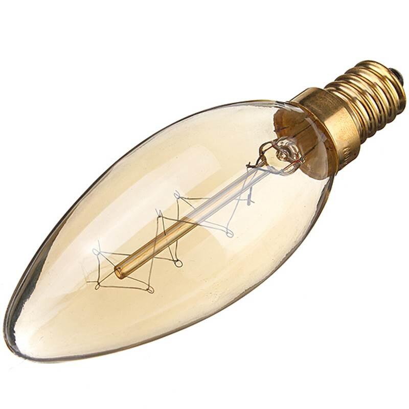 Hot Sale 40W E14 Vintage Antique Edison Candle Chandelier Light Filament Incandescent Clear Glass Pendant Bulb Lamp 110V/220V