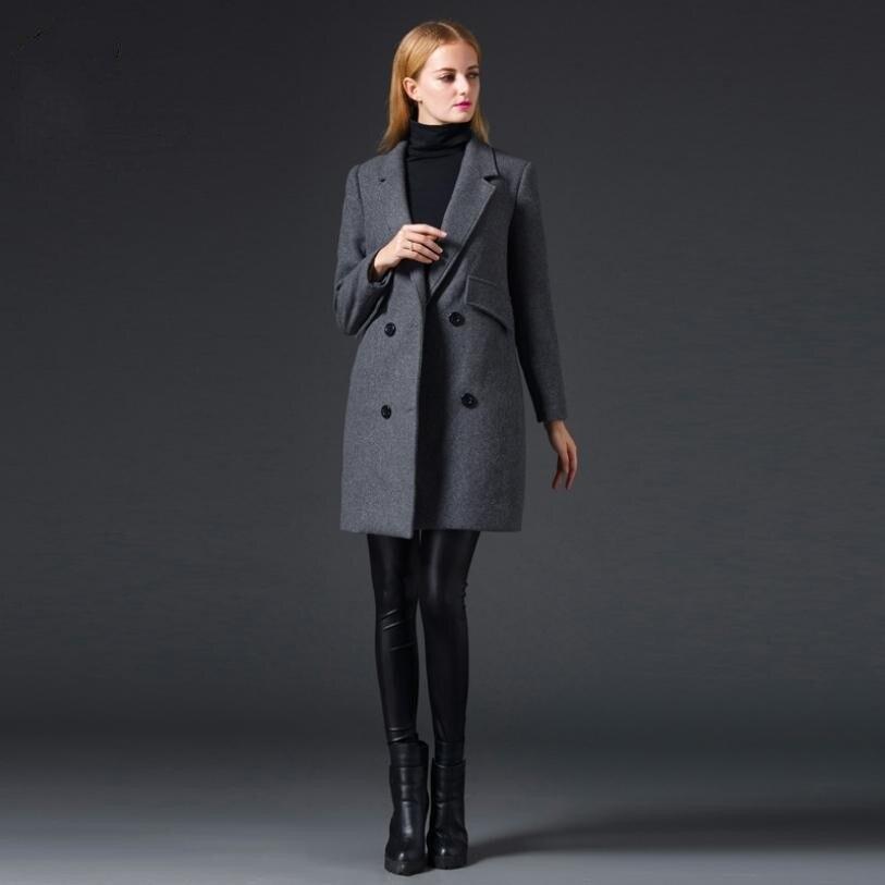 En Outwear Femmes Mince Nouvelles Longues Grey Hiver Manches Double 2018 Manteau Laine Gris Split Coréenne L1420 Version Retour De À Boutonnage Cachemire ZHq7wEF